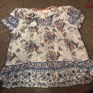 Knox Rose Size L Short Sleeve Blouse